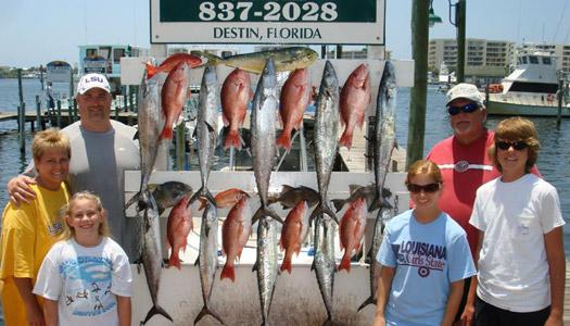 Fishing destin fishing deep sea bay destin florida for Destin fishing guides
